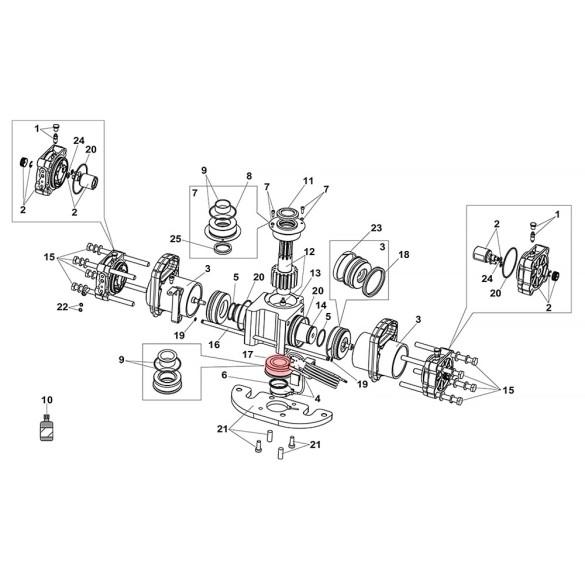 Lower Bushing For S800H ENC Drive Unit 100° - FAAC 63000554