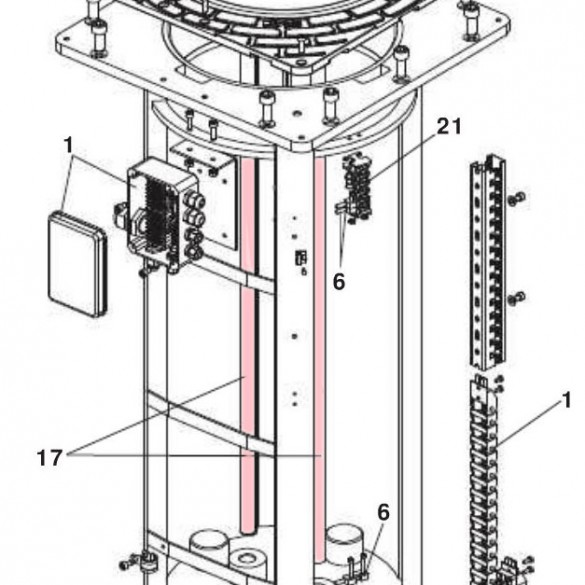 Guide Rod moving bollard H600 - FAAC 63002585