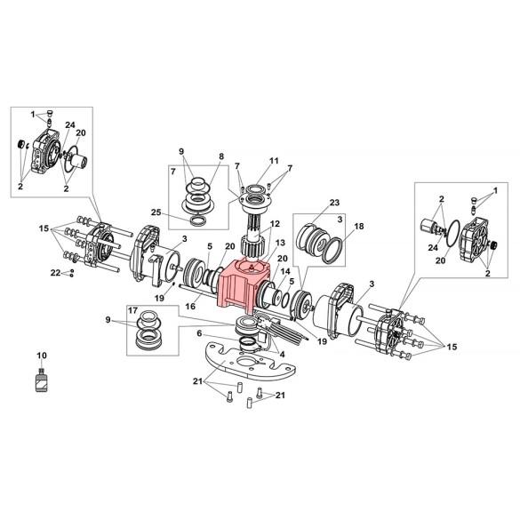 S800H ENC Drive Unit 100° Body - FAAC 63003260