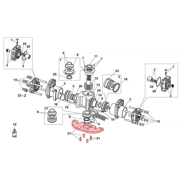 M10 Base Plate For S800H ENC Drive Unit 100° - FAAC 63003261