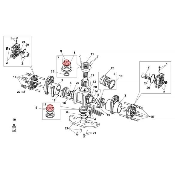 Bushings Group For S800H ENC Drive Unit 100° - FAAC 63003307