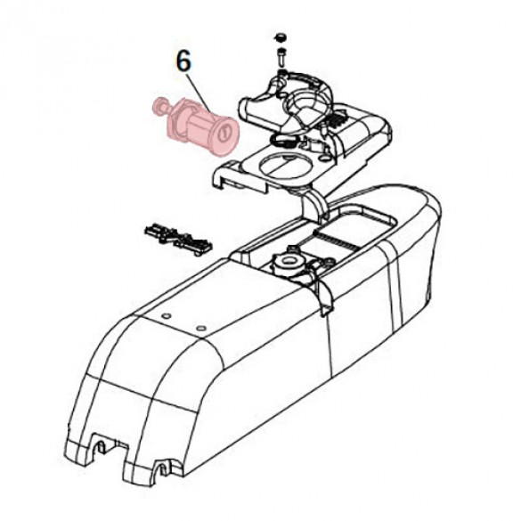 Cylinder Lock - FAAC 7120885 (Highlighted Part Only)