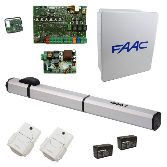 S450H CBAC Hydraulic Swing Gate Operator Basic Single Kit with Arctic Oil - FAAC 1041001577.5