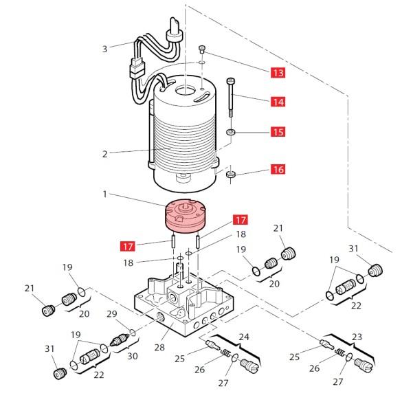 0.75 Lt. Lobe Pump for 760 - FAAC 3204435