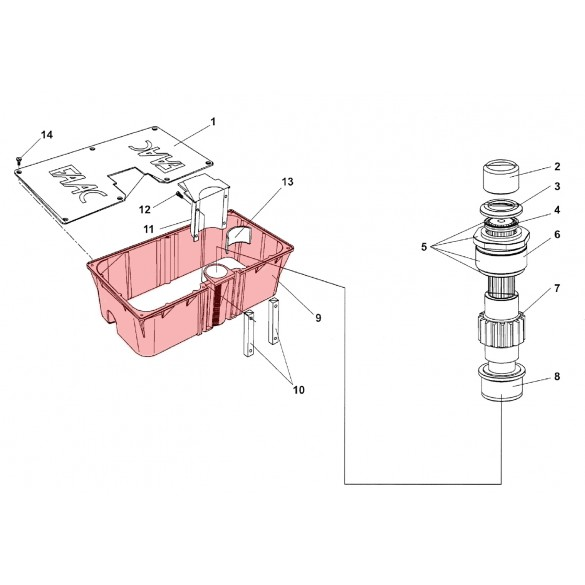 Load Bearing Box for 760 - FAAC 4900985