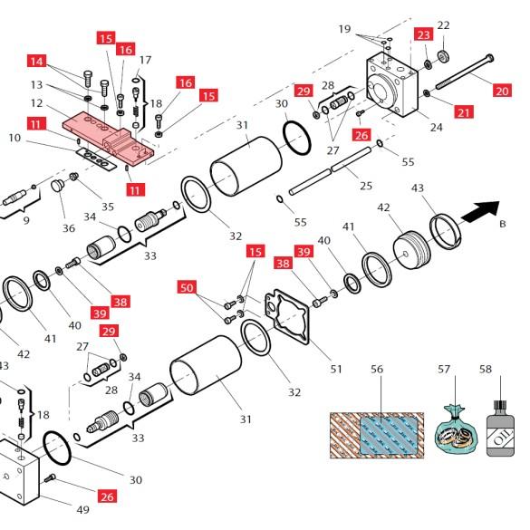 Manifold for 760 - FAAC 499762