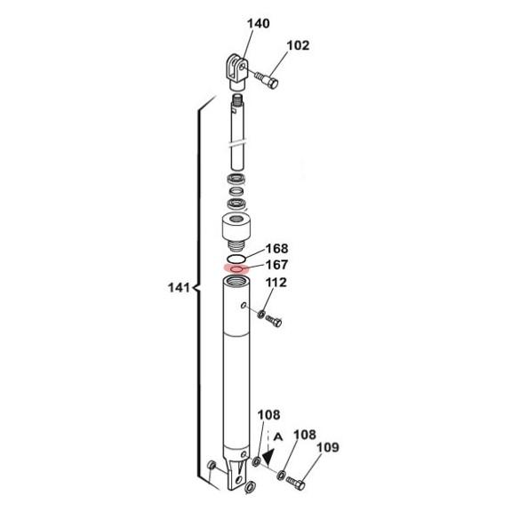 O-Ring (34.60 x 2.62 mm) - FAAC 7090350025