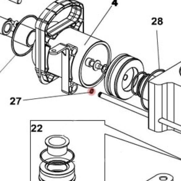 O-Ring 5 x 1.5 (Retract Tube) - FAAC 7090635