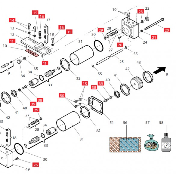 Gasket (Manifold) for 760 - FAAC 7099595