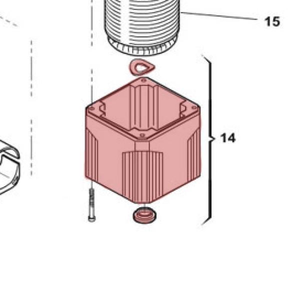 Motor Housing, Bottom Section for 412 - FAAC 716074
