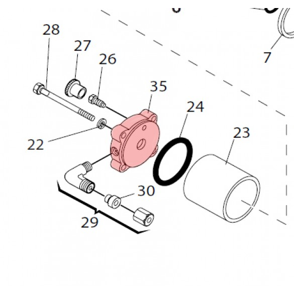 Right Side Flange for 750 - FAAC 7170275