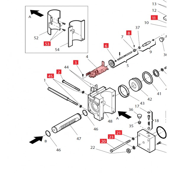 Manual Release Housing for 760 - FAAC 7201295