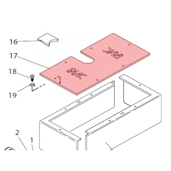 Foundation Box Lid for 750 - FAAC 7270415