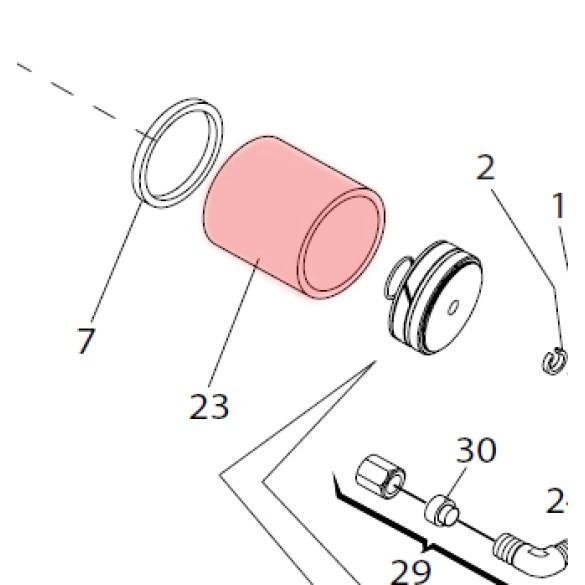 Cylinder 750 Drive 100 Degree - FAAC 7366245