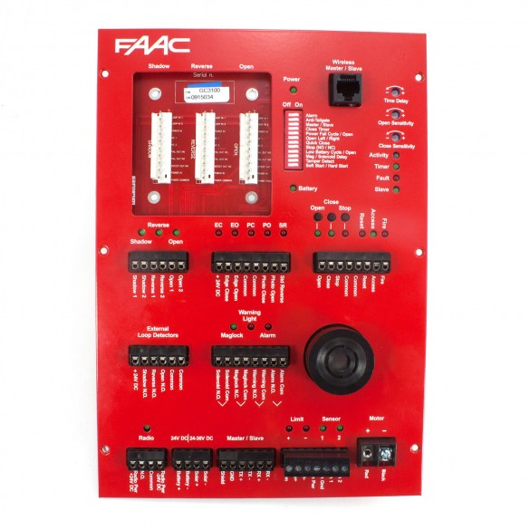 Controller PCB, Heat Sink and Faceplate Assembly - FAAC GC3100