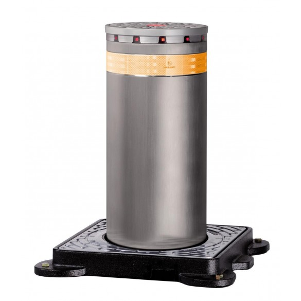 J275 SA 600 Semi-Automatic Retractable Traffic Bollard in Stainless Steel - FAAC 116060