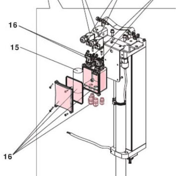 J275HA New Hydraulic Unit Connection Box - on bollard - FAAC 63000178