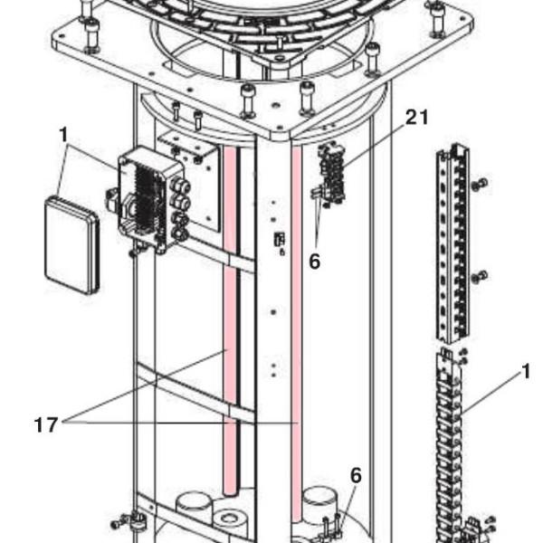 Guide Rod moving bollard H800 - FAAC 63002595