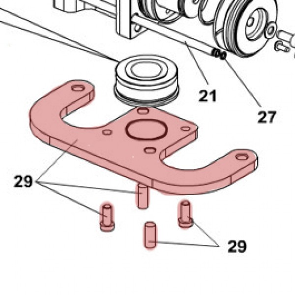 Foundation Plate for S800H - FAAC 63002465