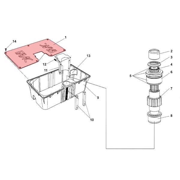 Load Bearing Box Cover - FAAC 7276005