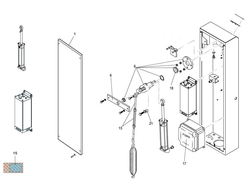 FAAC 615BPR STD Parts Diagram