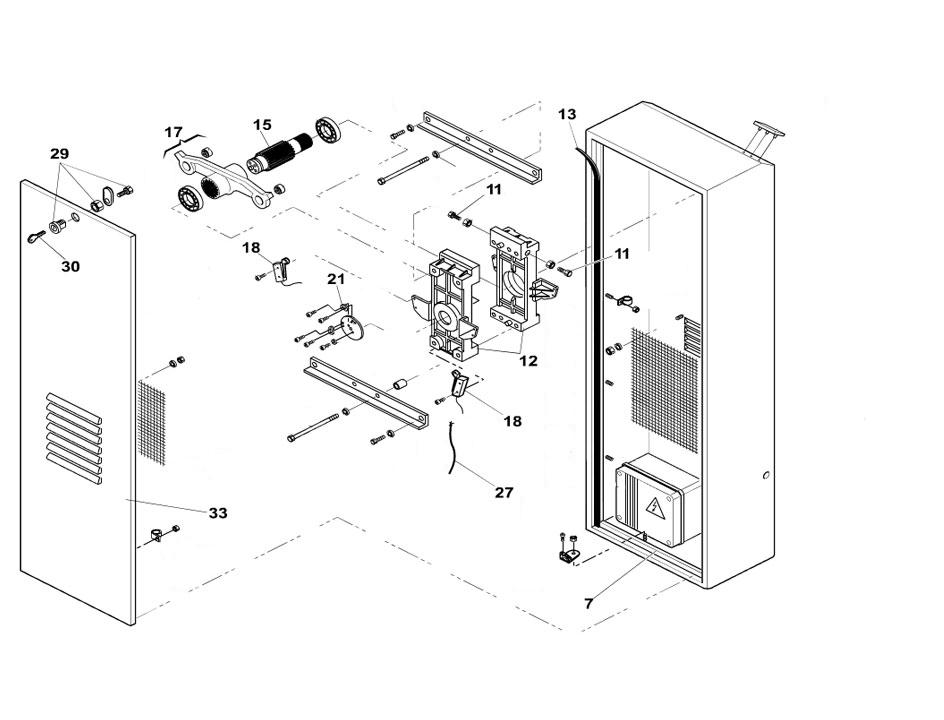 FAAC 620 Barrier Arm Operator Parts Diagram