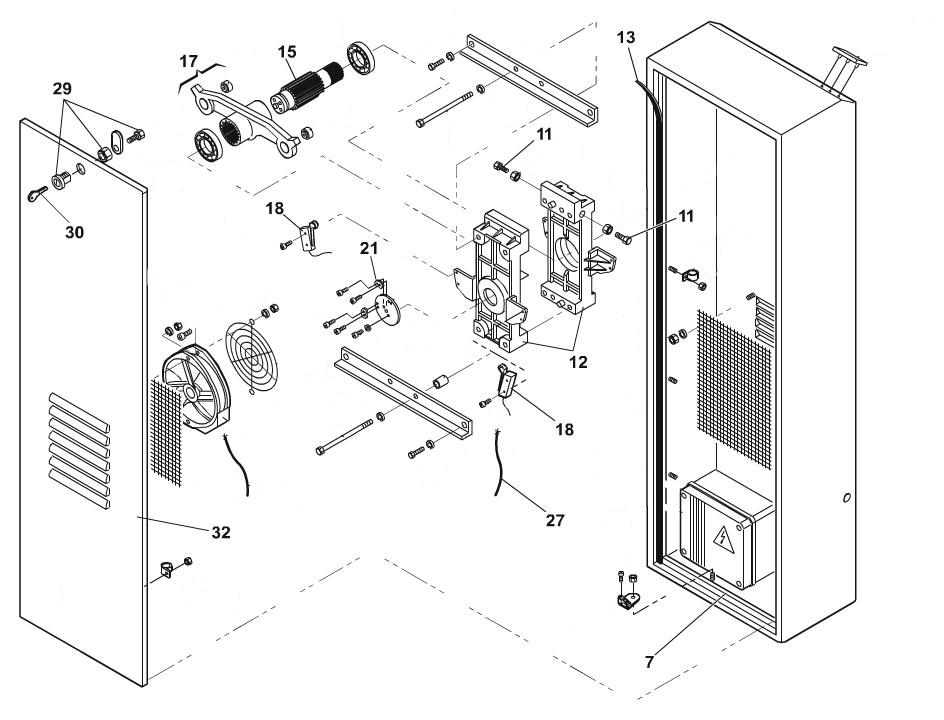 FAAC 640 Barrier Arm Operator Parts Diagram