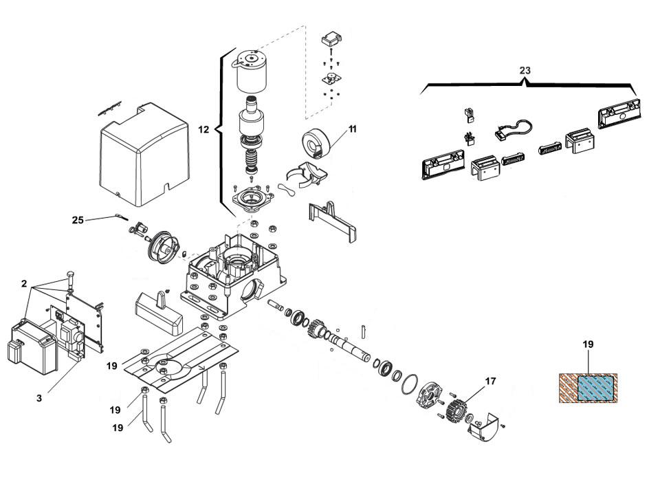 FAAC 740 24V Parts Diagram