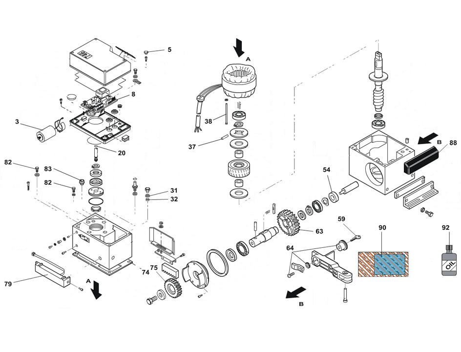 FAAC 746 EMC Parts Diagram