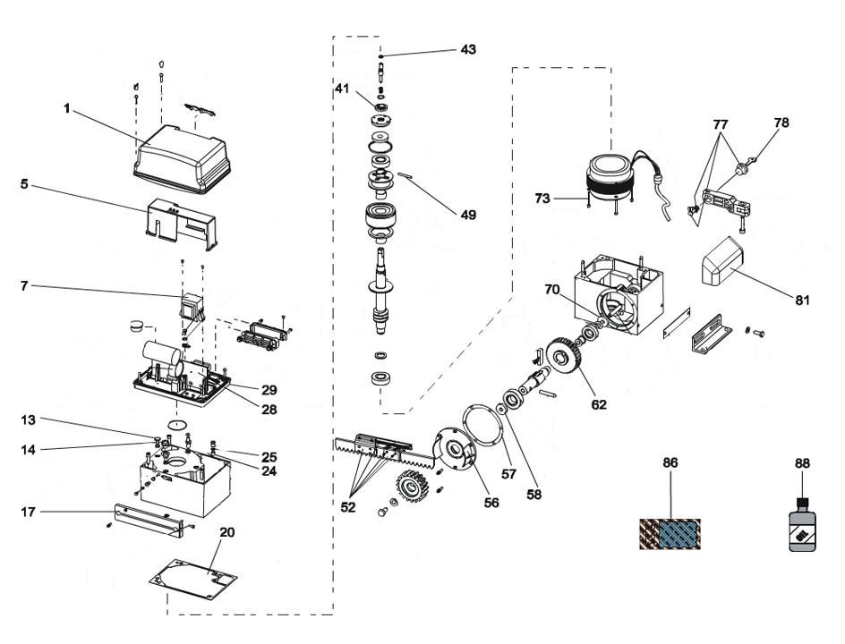 FAAC 844 ER Parts Diagram