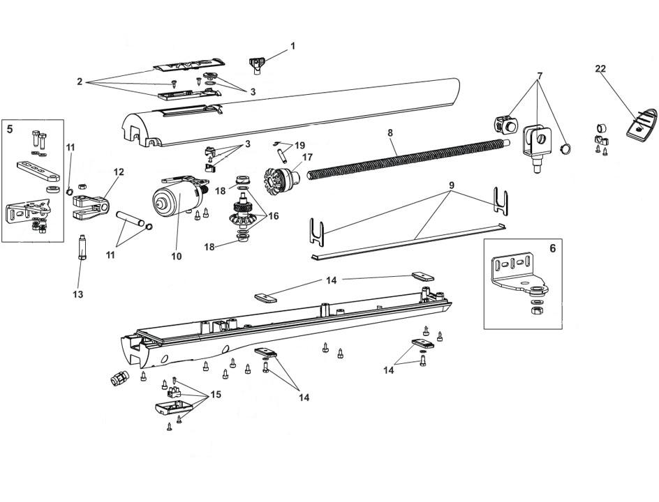 FAAC S418 Swing Gate Operator Parts Diagram