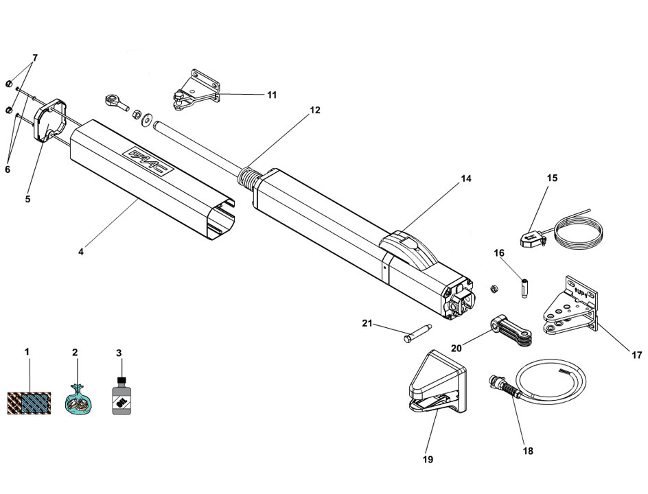 FAAC S450H CBAC Swing Gate Operator Parts Diagram