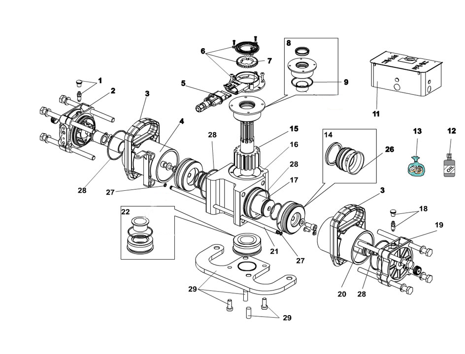 FAAC S800H 100 Parts Diagram