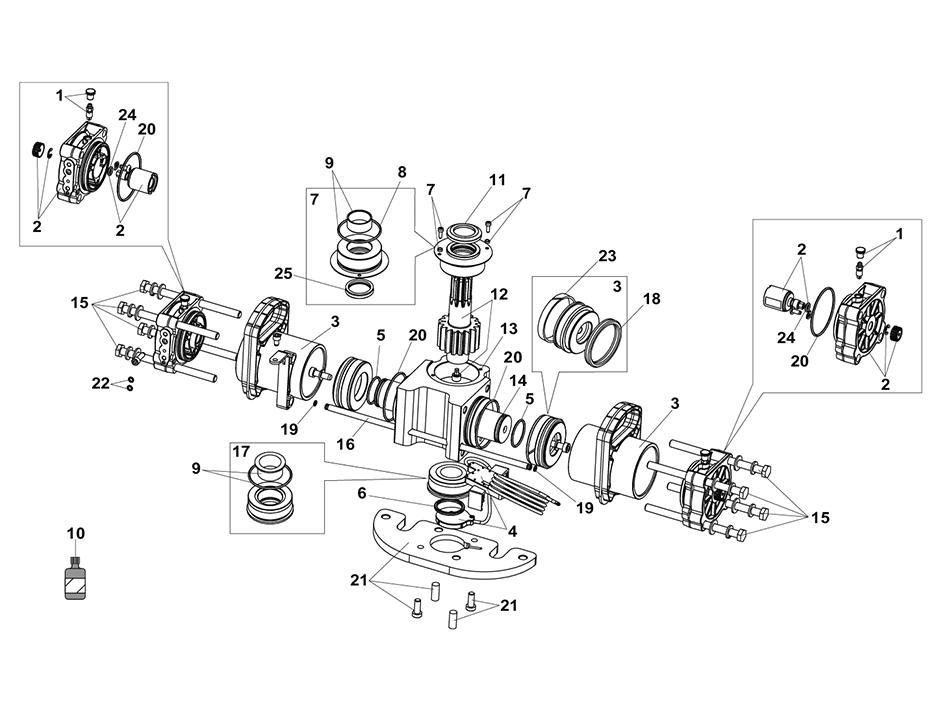 FAAC S800H 100 Parts Diagram